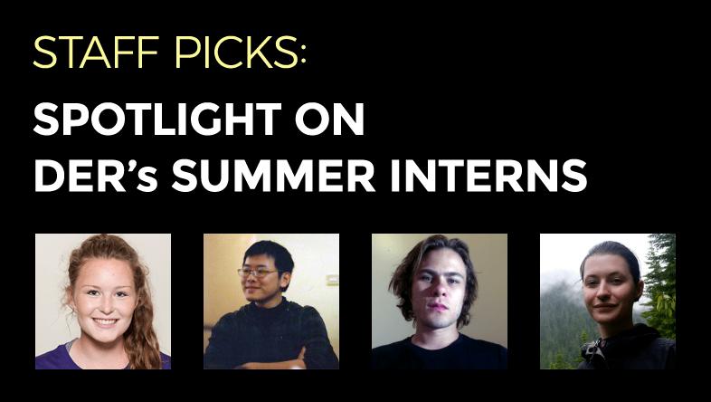 Staff Picks: DER's Summer Interns