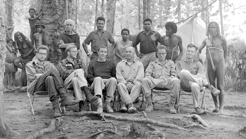 1961 Peabody expedition to New Guinea with Robert Gardner, Karl Heider, Michael Rockefeller, Peter Matthiessen, and others